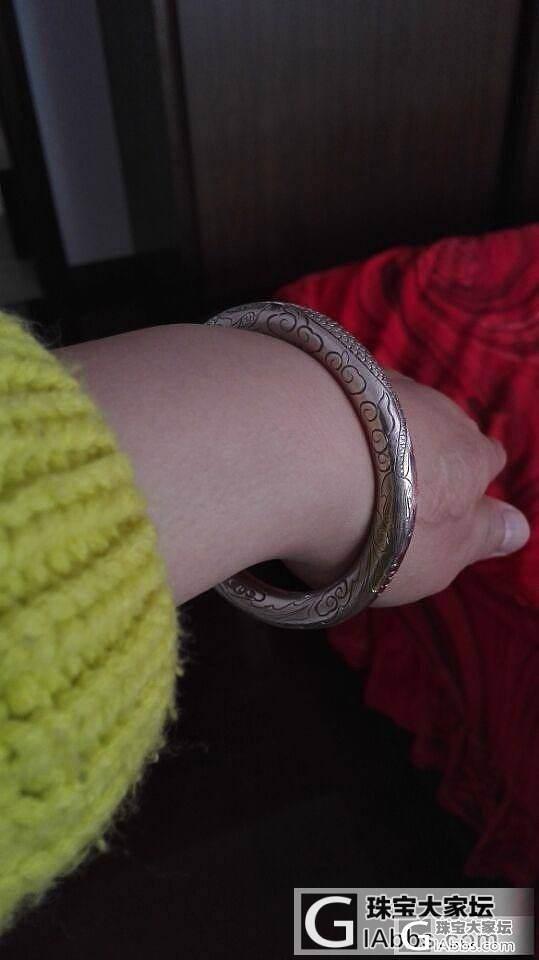 晒晒我的龙凤圆形手镯_手镯银