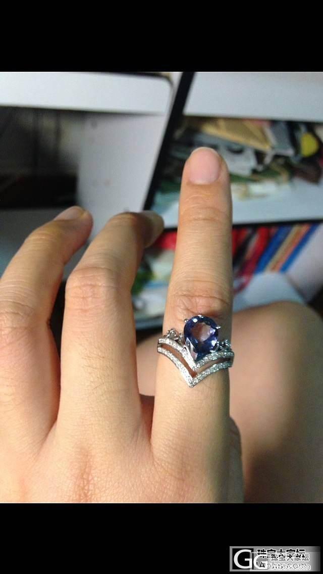一颗美美的坦桑_戒指刻面宝石坦桑石