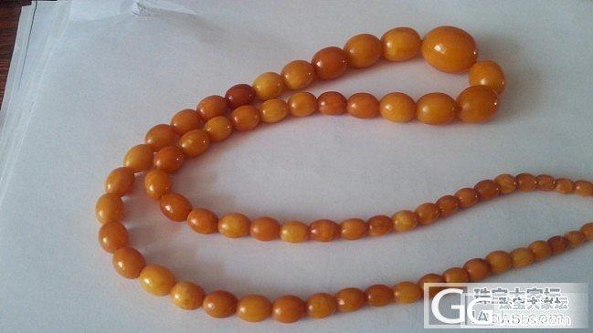 出一个老蜜蜡枣珠项链  超低克价 3..._有机宝石