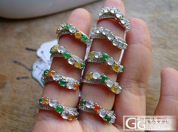 推荐925银镶天然翡翠戒指10款,物...