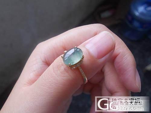 筹米转翡翠白蛋戒指、飘蓝花戒指、蓝水..._翡翠