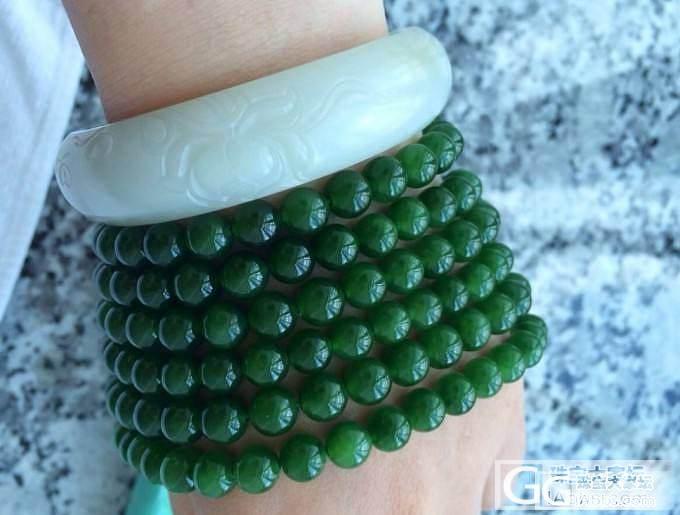 碧玉大珠链,给力收藏,,写了两个小时..._传统玉石