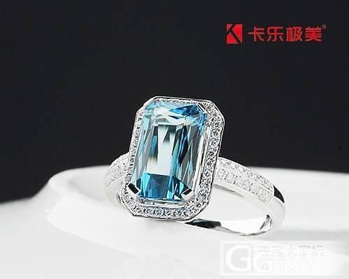 宫廷风海蓝宝钻石戒指出货欣赏!_珠宝