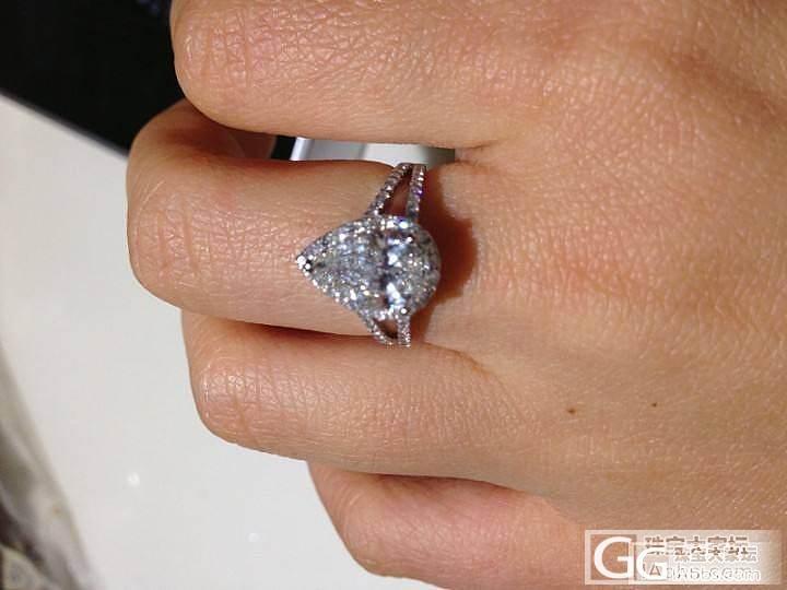 转1.14克拉水滴大钻戒,价格很给力..._钻石