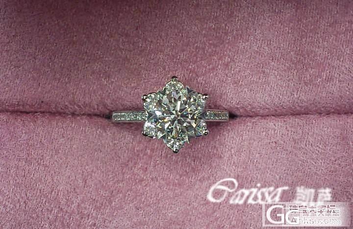请教各位达人:现在戒臂带钻的豪华戒托..._钻石