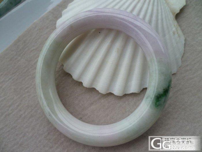 清货圆条带绿带紫5.8手镯特价680..._翡翠