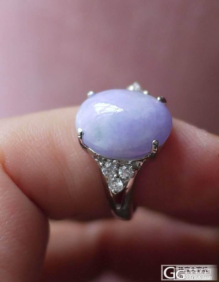 直径12.5的好冰蛋戒指和15的紫蛋..._翡翠