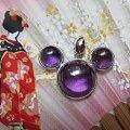 紫水晶托帕石吊坠