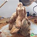 新作纯手工雕刻《豹女》