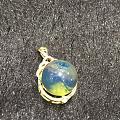 新镶嵌的多米蓝珀圆珠戒指💍💍💍