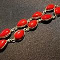 红珊瑚银手链